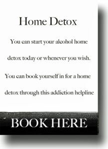 drink problems home alcohol detox