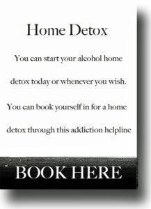 drink problems home alcohol detox
